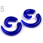 Stoklasa Náušnice plastové FALEŠNÝ ROZTAHOVÁK (1 pár) - 5 modrá kobaltová