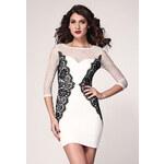 DAMSON Elegantní dámské šaty d-sat189 - dle obrázku - S/M