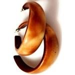 InObleceni Náušnice - vzhled dřeva