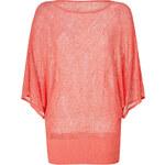 Autumn Cashmere Coral Dolman Sleeve Knit Top