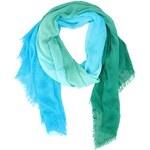 Obdélníkový modro-zelený šátek Fraas