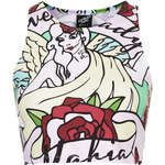Topshop **Lady Mafia Tight Crop Top by Illustrated People