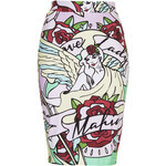 Topshop **Lady Mafia Midi Skirt by Illustrated People