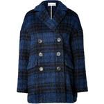 RED Valentino Wool Blend Plaid Coat