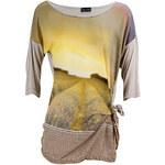 Glamorous by Glam GbyG Top s potiskem pole v předu satén béžové barvy