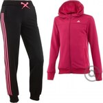 adidas SEPARATES HOODED POLYESTER TRACK SUIT 116