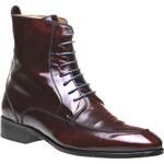 SHOEMAKER Stylové Chelsea boty v lakované kůži