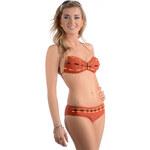Plavky dvoudílné Madora Tabu, hnědá - oranžová
