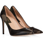 Valentino Leather/Cotton Camouflage Print Pumps