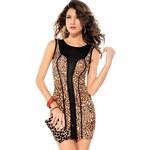 Leopardi mini šaty d-sat119 - dle obrázku - S/M DAMSON
