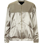 Topshop Metallic Sateen Bomber Jacket