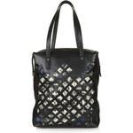 Topshop Premium Leather Diamond Cut-Out Shopper