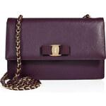 Salvatore Ferragamo Leather Two-Tone Ginny Crossbody Bag
