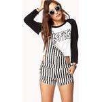 Forever 21 City-Chic Striped Shortalls