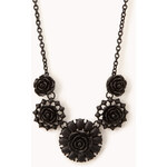 Forever 21 Dark Rose Bib Necklace