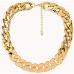 Forever 21 Street Cool Lacquered Chain Necklace