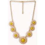 Forever 21 Flower Power Bib Necklace