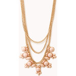 Forever 21 Faux Gemstone Layered Chain Necklace