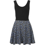Topshop **Sleeveless Tile Print Skater Dress by Annie Greenabelle