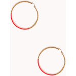 Forever 21 Neon Pop Oversized Hoops