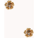 Forever 21 Femme Rhinestoned Floral Studs