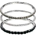 Krystal Swarovski Crystal Set Of Three Bangles - Black