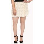 Forever 21 Sweet Rose Appliqué Skirt