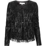 Topshop **Faux Leather Fringe Jacket by WYLDR