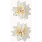 Forever 21 Double Floral Hair Clips