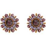 Konplott Ohrringe braun/lila/antikmessingfarben