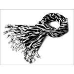 Kašmírový zebrovaný šátek pruhovaný