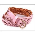 Proplétaný růžový pásek