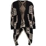 Dlouhý svetr AX Paris s aztéckým vzorem