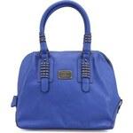 Modrá kabelka Gionni ozdobená kulatými cvočky