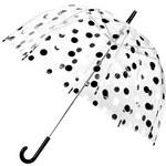 Deštník Lindy Lou Chaplin s černo-bílými puntíky
