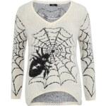 Bílý svetr s pavoukem b.young Elinor