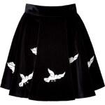 Olympia Le-Tan Embroidered Velvet Zancig Skirt