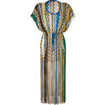 Missoni Mare Zigzag Knit Caftan with Fringe