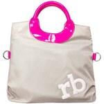 Rafinovaná šedo-růžová kabelka Roccobarocco