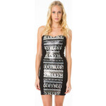 Tally Weijl Silver Sequin & Embellished Bodycon Dress
