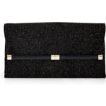 Diane von Furstenberg Glitter Leather Envelope Clutch