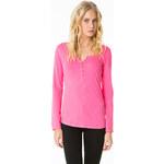 Tally Weijl Pink Buttoned Roll-Up Sleeve Top