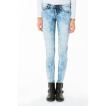 Tally Weijl Blue Acid Low Waist Skinny Jeans