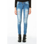 Tally Weijl Medium Wash Ripped Skinny Jeans