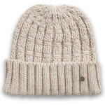 Esprit plain knit beanie with a vertical pattern