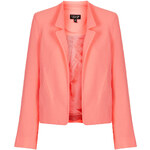 Topshop Crepe Notch Front Jacket