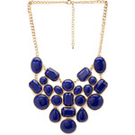 FOREVER21 Geo Faux Stone Bib Necklace