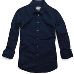 Replay Plain stretch cotton shirt.