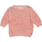 Replay Short-sleeve boatneck sweater in fluo cotton tape.