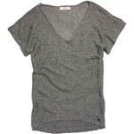Replay Sleeveless V-neck linen sweater with unfinished asymmetric hemline.